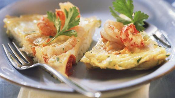 Rezept: Omelett mit Fisch und Meeresfrüchten
