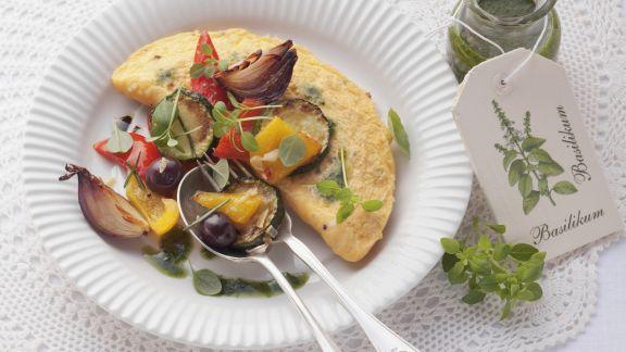 Rezept: Omelett mit Ofengemüse