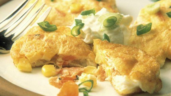 Rezept: Omelett mit Räucherlachs