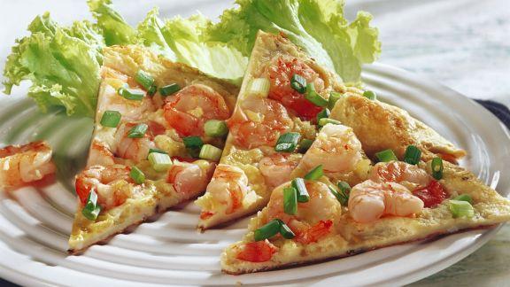 Rezept: Omelett mit Shrimps