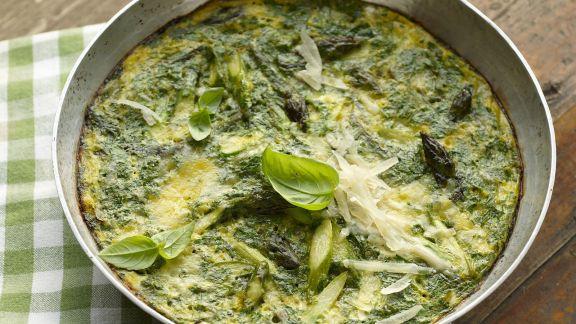 Rezept: Omelett mit Spargel und Kräutern