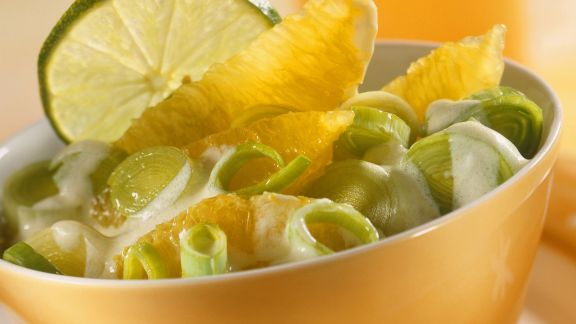 Rezept: Orangen-Lauch-Salat