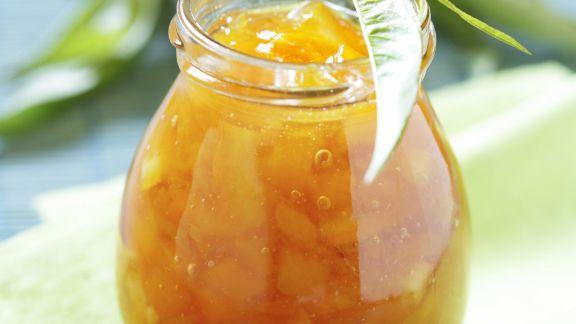 Rezept: Orangen-Pfirsich-Konfitüre