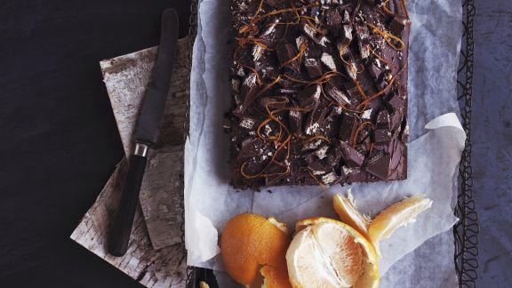 Rezept: Orangen-Schoko-Kuchen