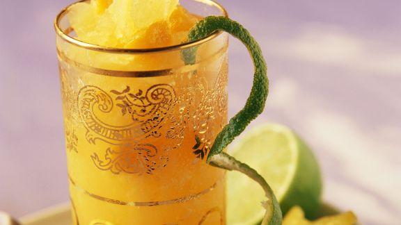 Rezept: Orangendrink mit Limette