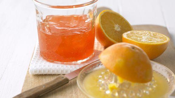 Rezept: Orangengelee mit Campari