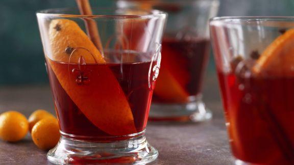 Rezept: Orangenpunsch mit Zimt