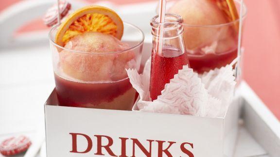 Rezept: Orangensorbet mit Campari
