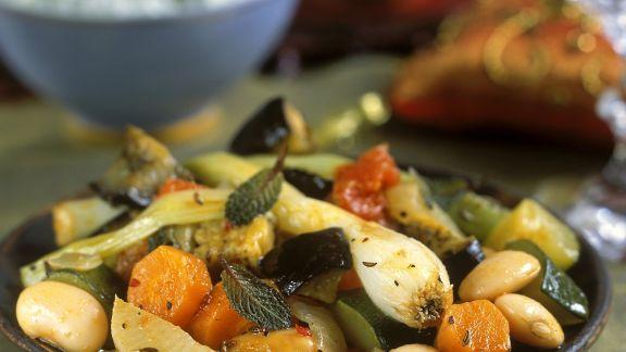 Rezept: Orientalische Gemüsepfanne