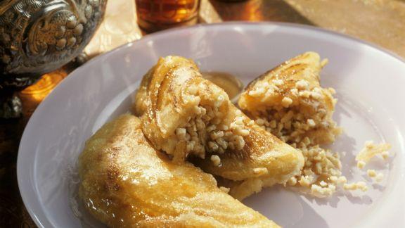 Rezept: Orientalische Pfannkuchen mit süßer Füllung