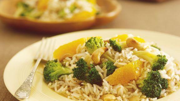 Rezept: Orientalische Reispfanne mit Brokkoli