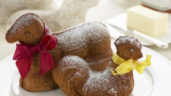 Rezept: Osterkuchen in Lamm- und Hennenform
