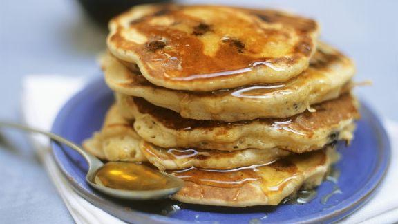 Rezept: Pancakes mit Blaubeeren