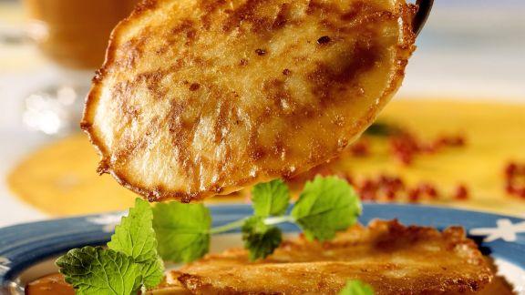 Rezept: Pancakes mit Frischkäse dazu Sanddornsirup