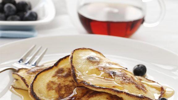 Rezept: Pancakes mit Heidelbeeren