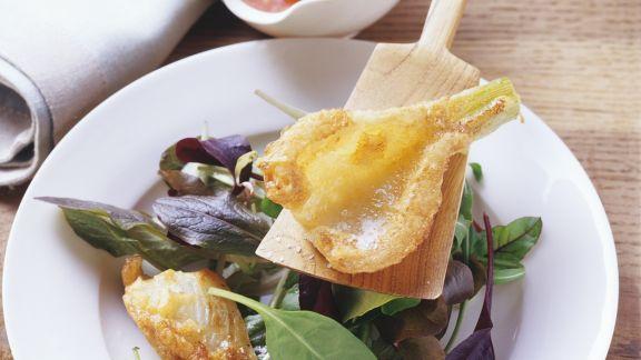 Rezept: Panierter Fenchel mit Blattsalat