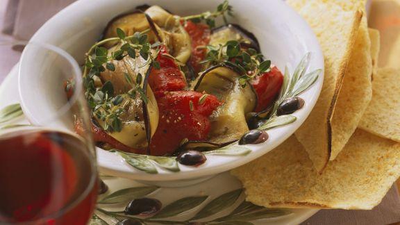 Rezept: Paprika-Auberginen-Gemüse