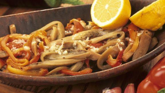 Rezept: Paprika-Auberginen-Salat
