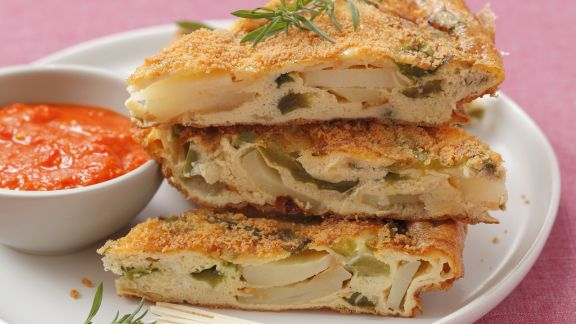 Rezept: Paprika-Kartoffel-Tortilla