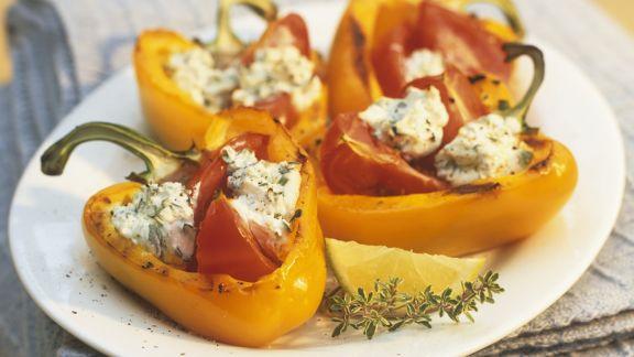 Rezept: Paprika mit Kräuterquark