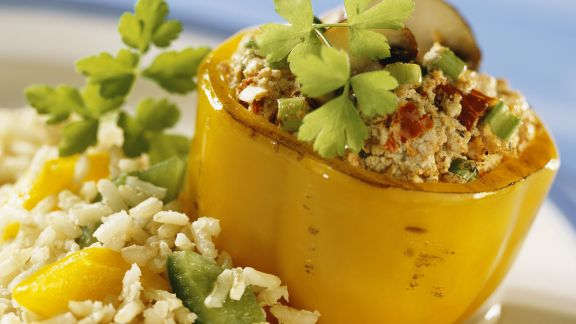 Rezept: Paprika mit Tofufüllung
