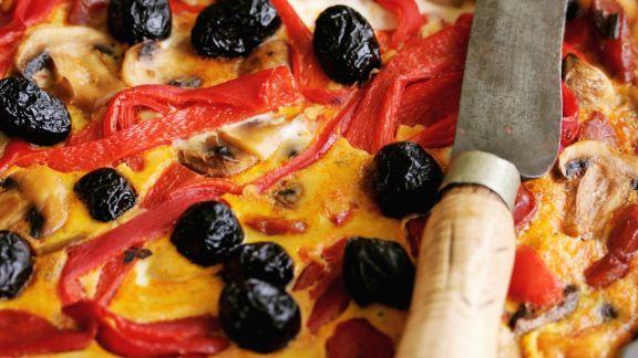 Rezept: Paprika-Oliven-Quiche