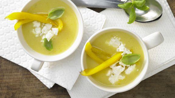Rezept: Paprika-Polenta-Suppe
