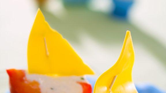 Rezept: Paprika-Schiffe für Kinder