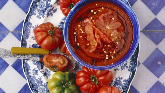 Rezept: Paprika-Tomatensuppe