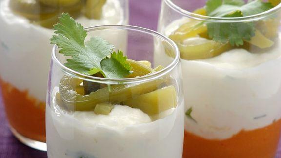 Rezept: Paprikacreme mit Kokoscreme und Rettich