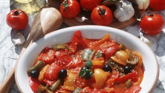 Rezept: Paprikagemüse auf italienische Art