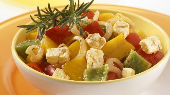 Rezept: Paprikagemüse mit Feta