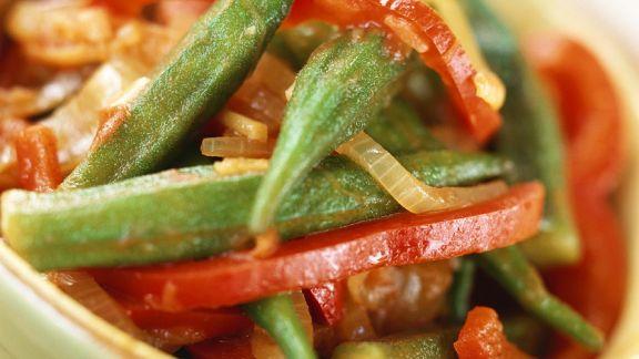 Rezept: Paprikagemüse mit Okraschoten