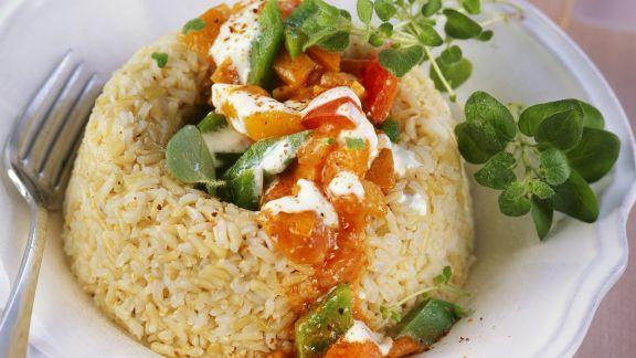 Rezept: Paprikagemüse mit Reis