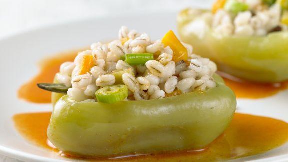 Rezept: Paprikaschoten mit Füllung aus Gerstengraupen