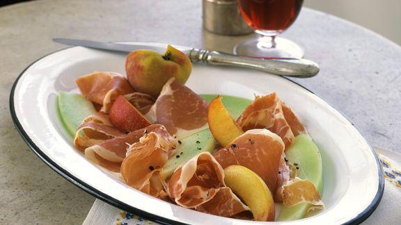 Rezept: Parmaschinken mit Früchten