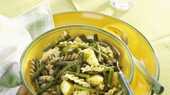 Rezept: Pasta mit Bohnen und Kartoffeln