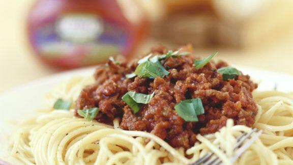 Rezept: Pasta mit Bolognese-Soße