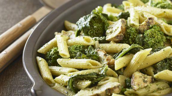 Rezept: Pasta mit Broccoli-Pilz-Sauce