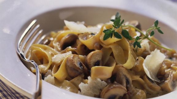 Rezept: Pasta mit Champignon-Mascarpone-Soße
