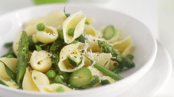 Rezept: Pasta mit Erbsen und grünem Spargel