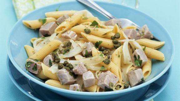 Rezept: Pasta mit Fenchel, Thunfisch und Kapern