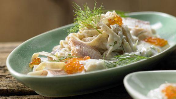 Rezept: Pasta mit geräucherter Forelle