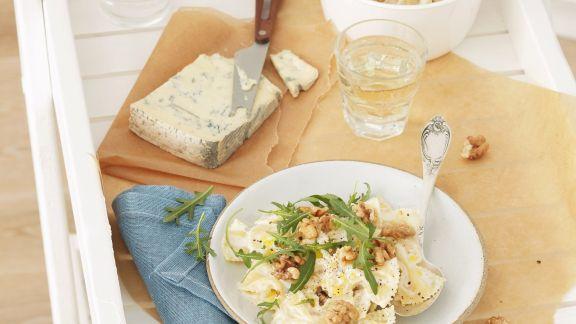 Rezept: Pasta mit Gorgonzola-Walnuss-Soße