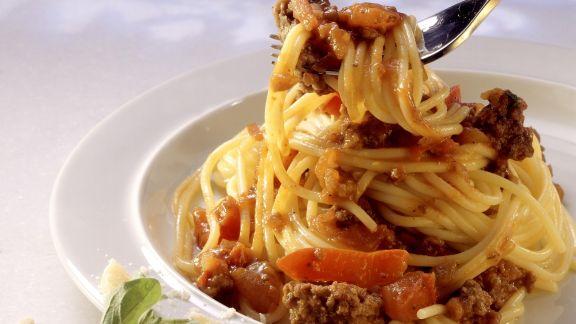 Rezept: Pasta mit Hackfleischsoße