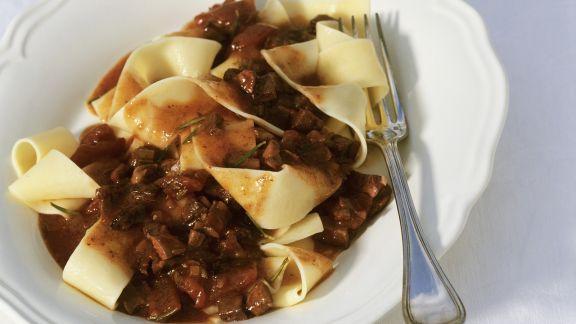 Rezept: Pasta mit Hasensoße