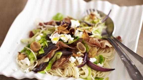 Rezept: Pasta mit Kohl-Knoblauch-Soße