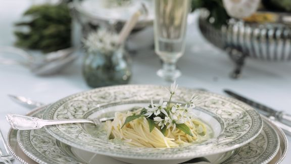 Rezept: Pasta mit Kräutersoße