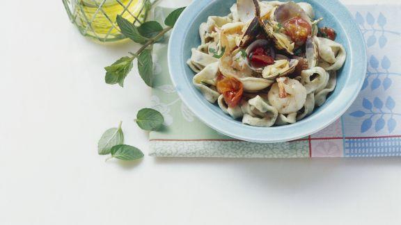 Rezept: Pasta mit Meeresfrüchten und Minze
