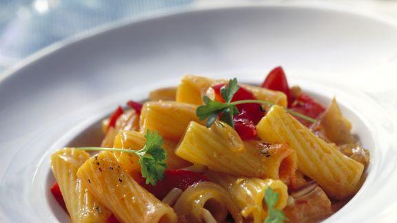 Rezept: Pasta mit Paprikacremesoße